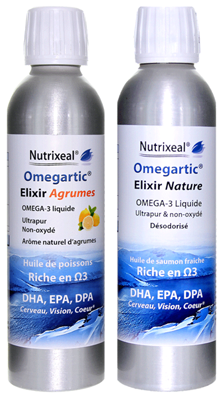 Omegartic Elixir Duo Agrumes + Nature - Omega-3 liquides