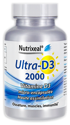 UltraD3 2000 - Vitamine D3 naturelle : 2000 UI/cp.