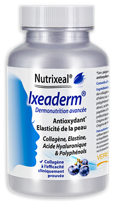 IXEADERM : collagène, élastine, acide hyaluronique et OPC