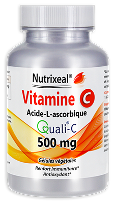 Vitamine C Quali®-C, Acide L-Ascorbique 100 % pur 500 mg / gélule