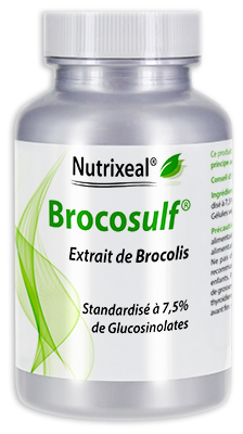 BROCOSULF® : Extrait de brocolis standardisé en sulforaphane et glucosinolates : 700 mg/gel - 60 gel