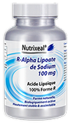 R-lipoate de sodium 100 mg / Acide R-alpha lipoïque, 60 gel